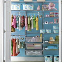 Elfa systems from The Container Store creates a little girl's dream closet! #containerstore #closet #storage