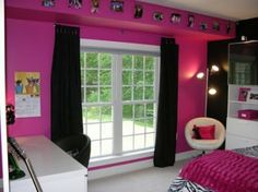 Hot Pink Bedroom Decorating Ideas | zebra-bedroom-ideas-hot-pink-and-black-zebra-bedroom-design-dazzle ...