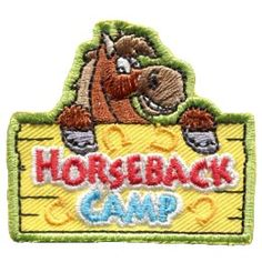 Horseback Camp (Iron On) -TEMPORARILY OUT OF STOCK Embroidered Patch by E-