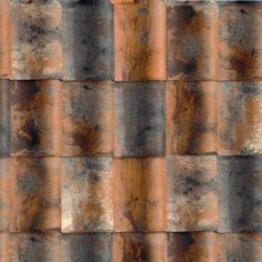 Koramic clay roof tiles - love the subtle rust colorings - I will definitely translate this into my art.