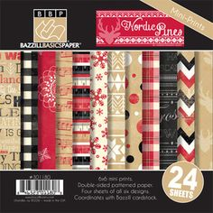 *Bazzill NORDIC PINES 6 x 6 Paper Multi-Pack
