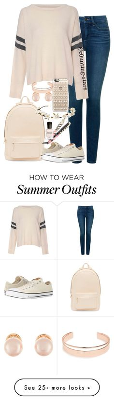 """::cute winter school outfit"" by c0unting-stars on Polyvore featuring moda, PB 0110, NYDJ, Glamorous, Converse, Cult Gaia, Casetify, Kenneth Jay Lane, Leith y Eva NYC"