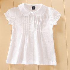 Blouses for women – Lady Dress Designs Frocks For Girls, Little Girl Dresses, Girls Dresses, Cute Blouses, Blouses For Women, Baby Girl Tops, Baby Dress Patterns, Girls Blouse, White Girls