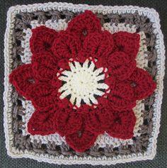 Ravelry: Crocodile Stitch Afghan Block - Dahlia pattern by Joyce D. Lewis