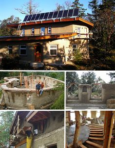 Cob homes! And the website has more construction types for sustainable housing    I'm loving these example of larger family sized cob homes that don't all look like hobbit holes.  ;)  I like that cob can be freeformed, but I would like it to look a little more like a 'normal-to-us' home as well.  (and fit our family of seven)