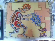 Mayan Metroid painting