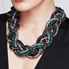 Women's Statement Necklaces Cross Alloy Fashion Statement Jewelry Vintage Black Brown Red Green Blue Jewelry ForParty Special Occasion