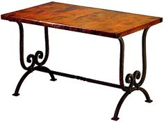 The Naples desk features simple and elegant iron work that supports the attractive copper top.  The copper surface area is hand-hammered fine enough to easily be written on problem free.  Transform your home office with Southwest elegance today!