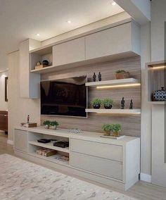 """590 Likes, 2 Comments - ap114 (@ap_114) on Instagram: """"Painel de TV claro sempre combina com uma sala clean. Igor Zanelato *Inspiração*…"""""""