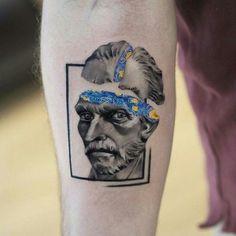 35 tatuagens inspiradas nas obras de Vincent van Gogh tattoo tattoo tattoo tattoo tattoo tattoo tattoo ideas designs ideas ideas in memory of ideas unique.diy tattoo permanent old school sketches tattoos tattoo Dope Tattoos, Mini Tattoos, Tatuajes Tattoos, Body Art Tattoos, New Tattoos, Tribal Tattoos, Small Tattoos, Tattoos For Guys, Tatoos