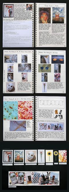 These sketchbook pages and accompanying prep sheet show the development of ideas for a mask and photographic study. It is important to note that working in other creative disciplines (such as sculpture and photography) can inject welcome variety into a Painting and Related Media project and can help inform and influence subsequent drawings and paintings (see below).