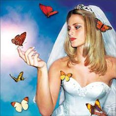 Releasing butterflies on your wedding day instead of rice or bubbles. Helps the environment too.