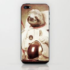Sloth Astronaut iPhone & iPod Skin by Bakus | Society6