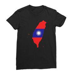 Taiwan Continent Flag Women's Fine Jersey T-Shirt