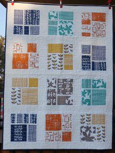 Modern quilt geometric print by dawnandgingersew on Etsy, $175.00
