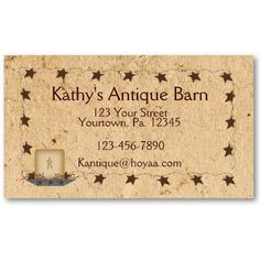 149 best country primitive products images on pinterest country rusty stars candle business card colourmoves