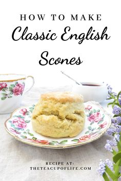 Vegetarian · The most perfect treat for afternoon tea are classic English scones! These scones are soft, light and best enjoyed warm with cream and jam. British Scones, English Scones, English Food, English Snacks, English Dessert Recipes, English Recipes, Tea Scones Recipe, Classic Scones Recipe, English Tea Cookies Recipe