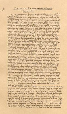 Edgar Allan Poe. 1841. Original manuscript for The Murders in the Rue Morgue.