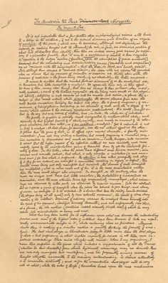 "Poe's manuscript of ""Murders in the Rue Morgue."""