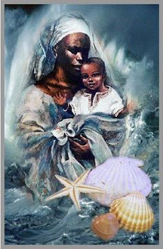 """""""YEMOJA"""", Goddess of The Sea, Rivers. Goddess of The Moon. The Ultimate Symbol and Personification of Motherhood. The Origin and Maternal source of Divine, Human, Animal and Plant Life. """"The GODDESSES / Psychology of Female Power"""".  http://thesisterhoodpsychology.weebly.com/"""