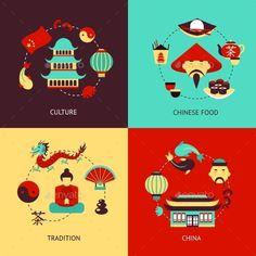 China Illustration Set
