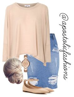 """Apostolic Fashions #1735"" by apostolicfashions on Polyvore featuring Glamorous, Gianvito Rossi and Armani Exchange"
