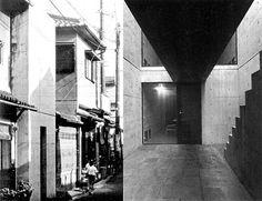 Casa Azuma, Sumiyoshi, Osaka. 1975-76, TADAO ANDO.