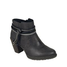 Rieker Dark grey 'Rope' womens casual ankle boots | Debenhams