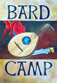 """Sign for """"Dan the Bard"""" - acrylic on unframed canvas, for Dan Marcotte"""