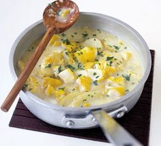 Smoked haddock chowder. A thick, satisfying warming winter chowder packed with fish and potatoes