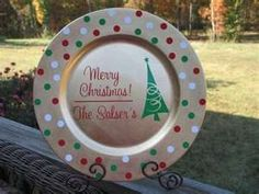 Custom Christmas Plate Charger DIY with sharpie markers ... | Christm ...