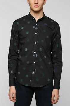 Oxford Lads Tie-Dye Dots Button-Down Shirt #urbanoutfitters