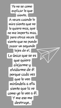 Lo amo.. Sad Love, Love You, Phrase Book, Love Messages, Sad Quotes, Love Of My Life, Good Books, It Hurts, Nostalgia