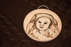 Baby Face - Pyrography
