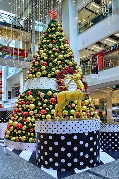 Christmas tree decorations at the atrium Central shopping mall with a theme 'A Spellbinding Christmas Celebrations by the River' display for the Christmas Festive 2013 celebrations. - Singapore
