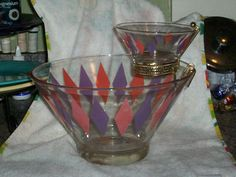 Anchor Hocking HARLEQUIN Chip & Dip Set by thetrendykitchen, $45.00  I am looking for just the dip set, I have a bowl, so if anyone has the dip set please let me know.  Thanks