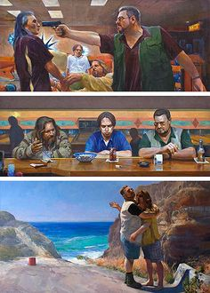 Paintings from 'The Lebowski Cycle' by Joe Forkan