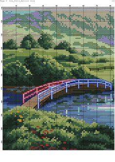 Zz Balloon Glow, Hot Air Balloon, Cross Stitch Landscape, Scenery Pictures, Pixel Art, Cover Design, Cross Stitch Patterns, City Photo, Cross Stitching