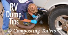 Did you know that most RV holding tank products are toxic? Are RV composting toilets better? How do you dump RV tanks & compost toilets?
