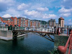 During the early 1980's the old Swansea Docks were redeveloped and the Maritime Quarter was built.