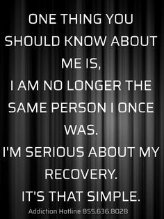 I'm serious about my recovery. It's that simple. Sober Quotes, Aa Quotes, Sobriety Quotes, Qoutes, Sobriety Gifts, Wife Quotes, Food Quotes, Friend Quotes, Crush Quotes