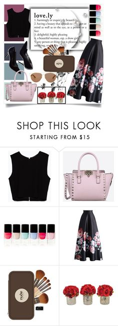 """""""Definition of Love"""" by selena-gomezlover ❤ liked on Polyvore featuring Zara, Valentino, Nails Inc., Chicwish, Nude by Nature, The French Bee and Christian Dior"""