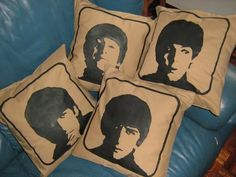 These Beatles pillows would also be awesome done in black, white and blue like the album cover!
