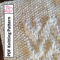 Baby Blanket Knitting Pattern, PDF Knitting Pattern - Chevron Baby Blanket/throw/afghan 28 x 36 Afghan Patterns, Baby Knitting Patterns, Chevron Baby Blankets, Purl Stitch, How To Start Knitting, Knitting Projects, Knitting Ideas, Yarn Shop, Yarn Needle