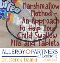 Parents: do you need a no-fuss method of teachingyour childto swallow a pill? Here's a trick I've used for years:miniature marshmallows. Depending on your child's maturity, this is most often su...