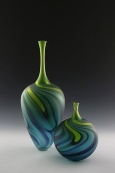 Citrus green bottle set.  Scott Gamble, One of a Kind Show Chicago.
