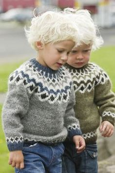 Traditional Icelandic Wool SweatersHand-knitted wool sweaters, cardigans and pullovers made from the finest Icelandic wool. The knitwear design and patterns are both traditional and modern. Most design are also available as Knitting kits. Icelandic Sweaters, Wool Sweaters, Precious Children, Beautiful Children, Knitting For Kids, Baby Knitting, Handgestrickte Pullover, Style Couture, Boy Fashion