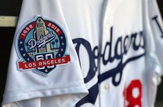 The Los Angeles Dodgers today unveiled the special patch in commemoration of the anniversary of their first season in Los Angeles; the team will wear the patch throughout the upcoming 2018 season on the right sleeve of their jersey. Dodgers Fan, Dodgers Baseball, Baseball Hats, Anniversary Logo, Dodger Blue, Baseball Season, Go Blue, Los Angeles Dodgers, Logo Inspiration