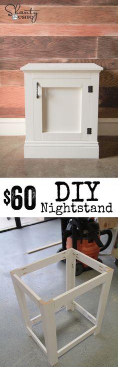 DIY Nightstand with storage! Easy to follow tutorial… LOVE! www.shanty-2-chic.com