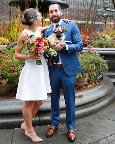 We went on our first date four years ago and we celebrated today by heading to the courthouse and making it very official. There's no one I'd rather live with laugh with travel with or raise a pug with: so happy to be Mrs. Merrill